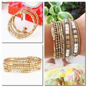 Stella & Dot Celine Wrap Bracelet Gold